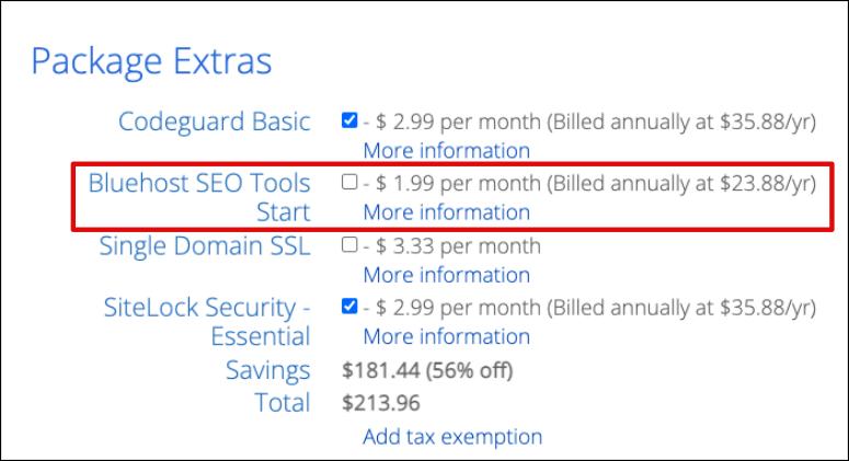SEO tool pricing
