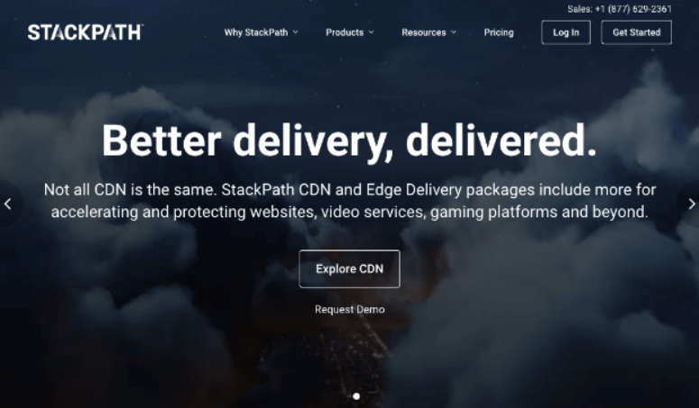 StackPath homepage