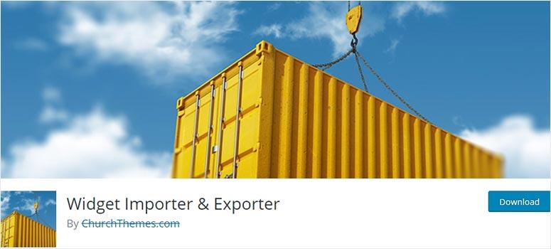 Widget Importer and Exporter