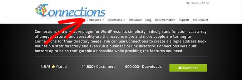 Connections Pro menu