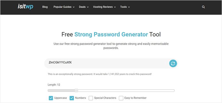 IsItWP Password Generator