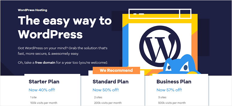 Hostgator WordPress Hosting plans
