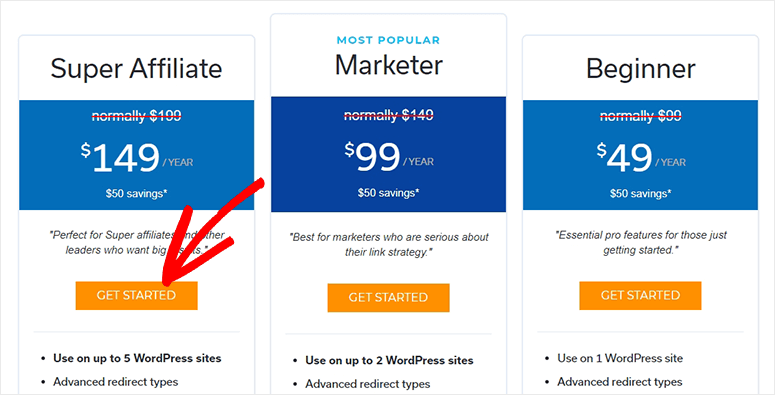Pretty Links Pro Get Started