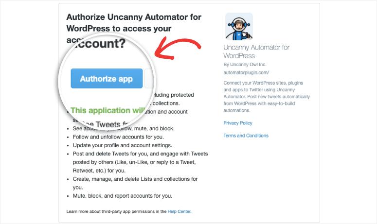 authorize uncanny app