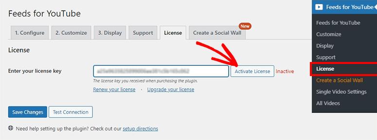 License activation