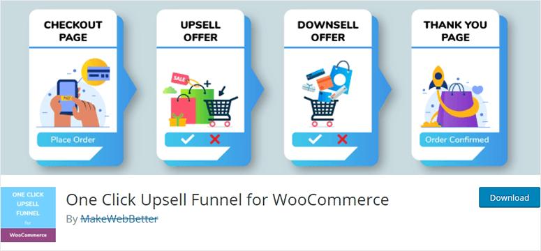 برای WooCommerce یک قیف Upsell را کلیک کنید