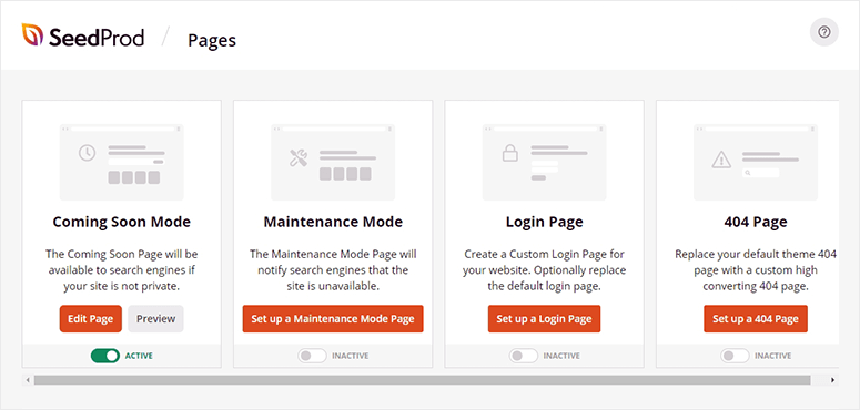 SeedProd page templates