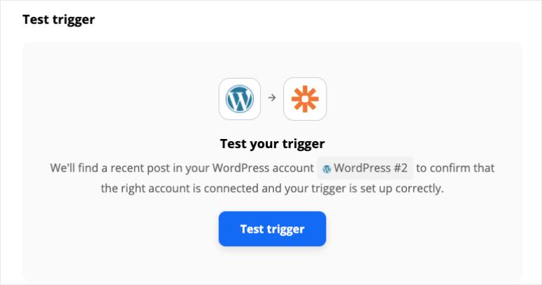 test zapier trigger