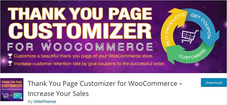 Thank you page customizer for WooCommerce