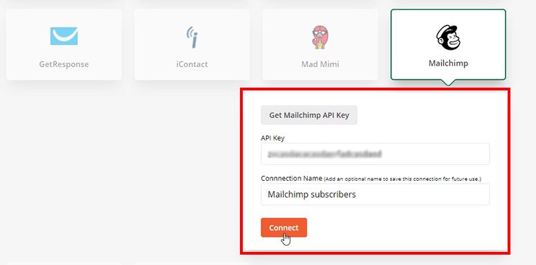 کلید API را اضافه کنید