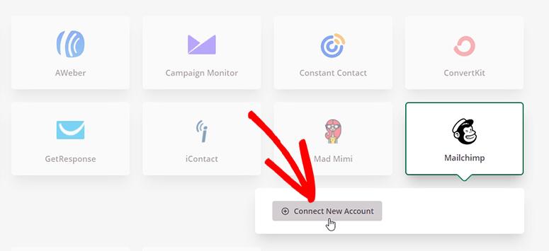 اتصال حساب جدید