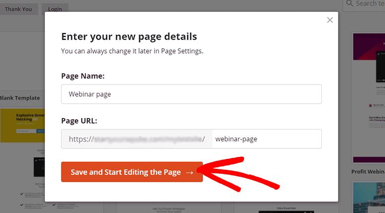 Enter page name