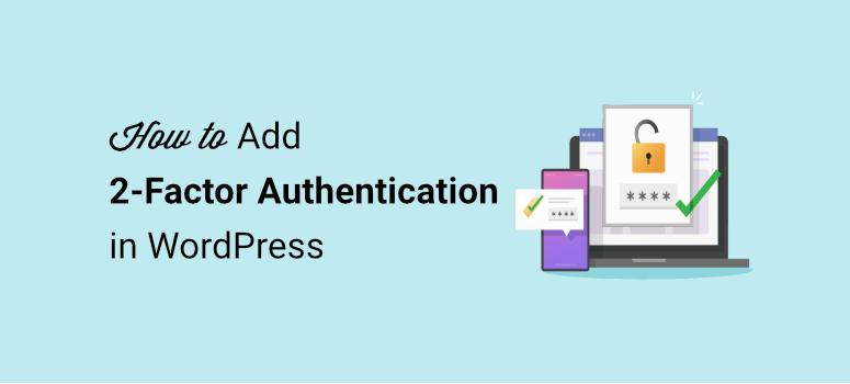 add 2 factor authentication in wordpress