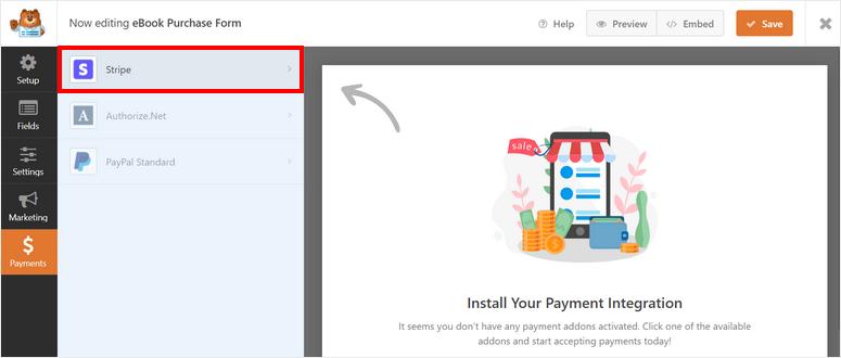 choose-stripe-option-how-to-sell-ebook-on-wordpress-1