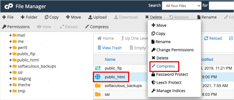 compress public html