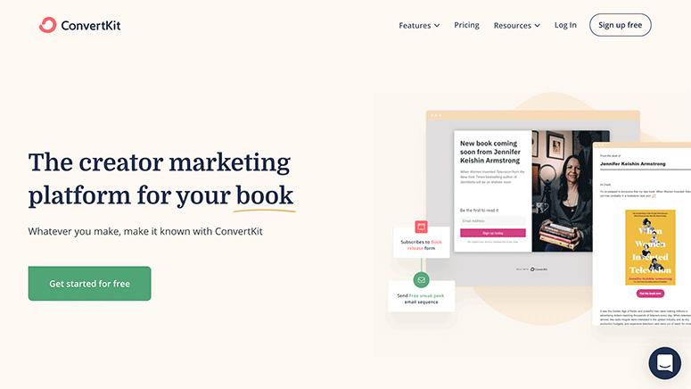 ConvertKit website