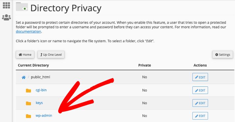 edit wpadmin privacy