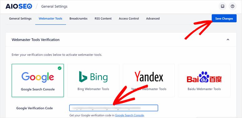 enter-verification-code-google-webmaster-tools