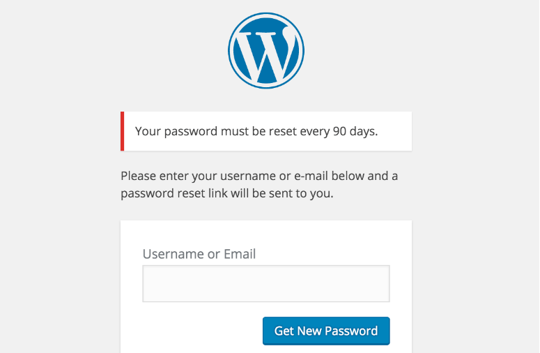 expire password example