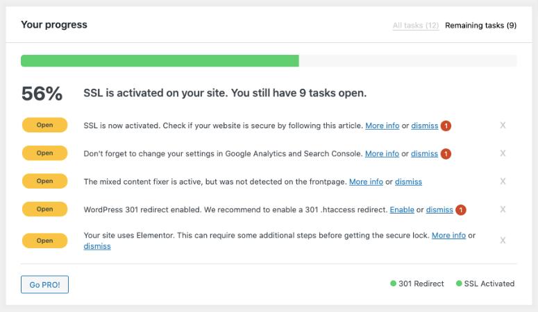 really simple ssl progress