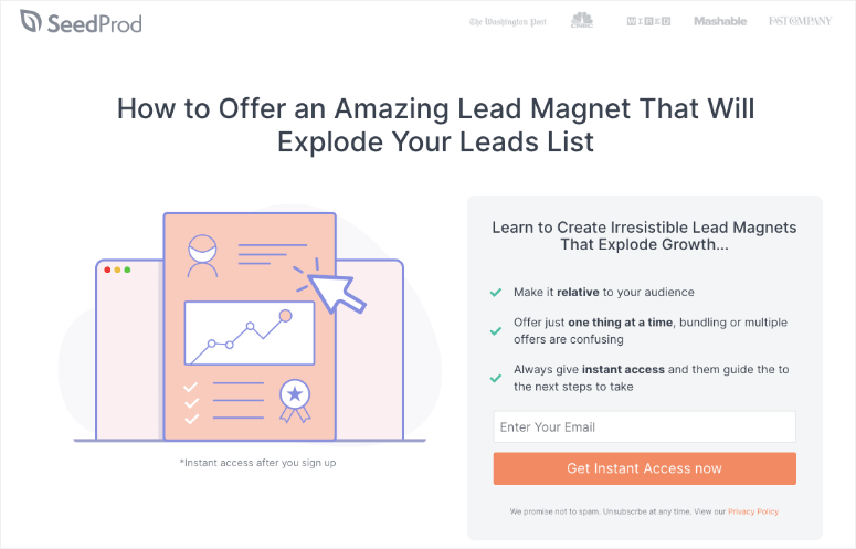 seedprod lead squeeze page