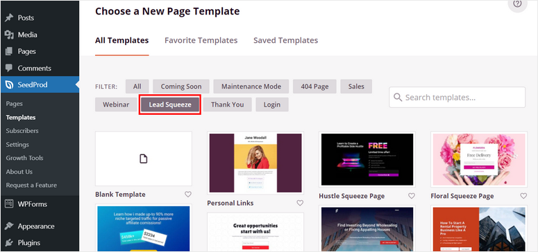 seedprod-lead-squeeze-templates