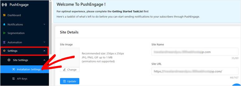 site-settings-pushengage