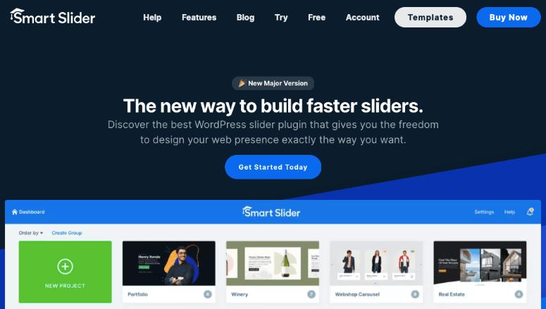 smart slider homepage