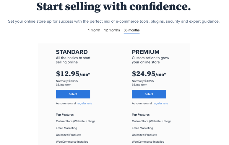 woocommerce pricing in bluehost