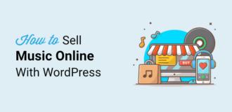 sell music online in wordpress