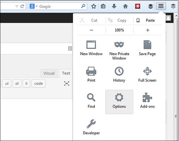 Spellcheck Firefox Settings