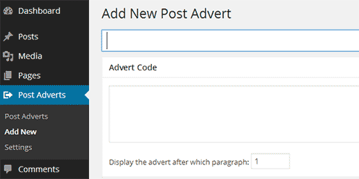 Adding a new ad code