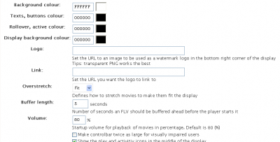 FLV Embed Options