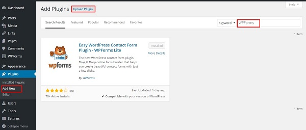 how to add contact form to your wordpress website