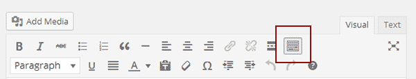 Expanding visual editor by clicking on the kitchen sink button