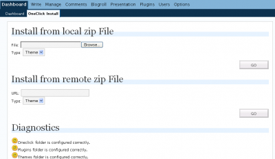 OneClick Installer Admin