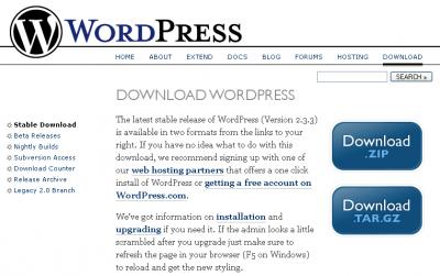 WordPress Download Page