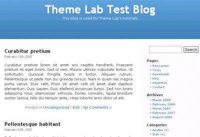 WordPress Posts Page